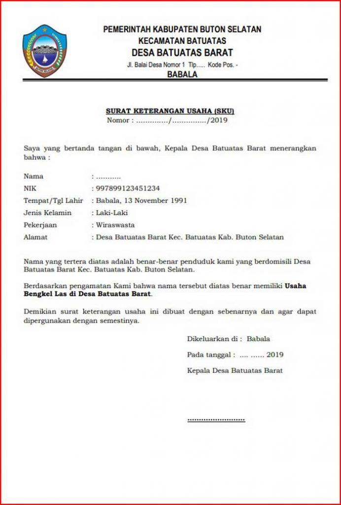 2021 Contoh Surat Keterangan Usaha Dari Desa : Fungsi ...