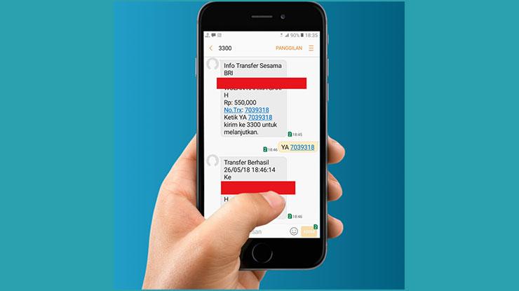 Transfer Antar Bank via SMS Banking